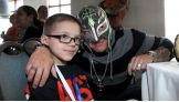 Rey Mysterio was at the Dominos pizza party to meet over 30 extraordinary members of the WWE Universe.