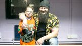 Bray Wyatt meets Dominic, age 8, during WWE Live's tour stop in Newcastle, U.K.