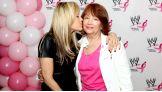 Lilian Garcia gives her mom - a breast cancer survivor - a smooch.