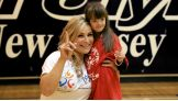 Natalya makes a new friend at the Special Olympics 2014 USA Games Unified Sports Celebration in New Jersey.