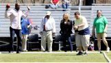 Honorary coaches Titus O'Neil and Natalya join the Special Olympics 2014 USA Games Unified Bocce Game.
