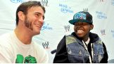 Traquan flashes a big smile for CM Punk.