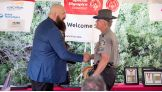 Carlo Guerra, a 25-year Connecticut State Trooper at the Department of Emergency Services & Public Protection who has been involved with the Special Olympics Connecticut torch run for over 11 years, is honored.