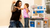 """Roman Reigns sings """"I'm a Little Teapot"""" with his daughter, Joelle."""