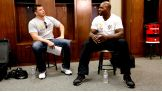 Alex Riley and Titus O'Neil get their game plan together.