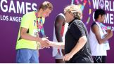 William Regal awards medals at the 2015 Special Olympics World Games.