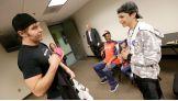 Dean Ambrose meets Craig, 13, of Make-A-Wish.