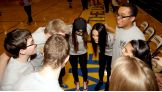 The Bella Twins pump up the players at the Special Olympics Illinois Unified Basketball Game.