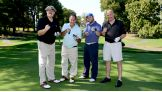 Sgt. Slaughter hit the links with former pro football players at the NFL Alumni Golf Classic.