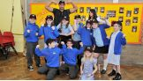 Fandango and his dance partner, Layla, host a WrestleMania Reading Challenge U.K. rally in Leeds.