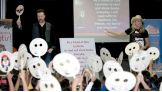 """Sheamus and Malchiodi talk to the children about the important message of friendship in """"Otis."""""""
