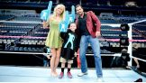 Michael, 10, meets Summer Rae and Fandango.