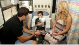 Former NFL quarterback Matt Leinart joins Emma visiting kids at CHLA.