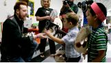 Sheamus meets children from Gragson Elementary School in Las Vegas.