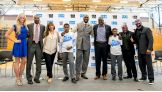 Summer Rae, Titus O'Neil and The Lucha Dragons host a Be a STAR rally with Mentoring USA and The Creative Coalition in Newark, N.J.