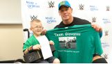 John Cena meets Make-A-Wish's Giovanni in Fresno, Calif., before SmackDown.