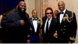Mark Henry and WWE Hall of Famer Jimmy Hart attend USO Metropolitan Washington-Baltimore's 33rd Annual Awards Dinner.