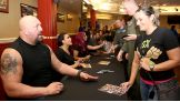 Big Show, Tamina and Sasha Banks greet service members and their families.