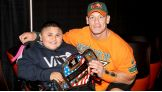 United States Champion John Cena meets Jaime before Raw in Boston.