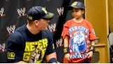 John Cena says hello to Alex from a Wish with Wings.