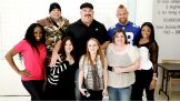Naomi, Brodus Clay, Tensai, N.Y. Giants linebacker Mark Herzlich, and Cameron visit the Hackensack University Medical Center in New Jersey.