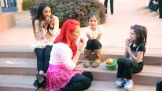 WWE Divas Eva Marie and Cameron make some new friends at Ronald McDonald House at Stanford in Palo Alto, Calif.