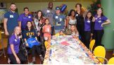 Sami Zayn, Raw Women's Champion Bayley, Titus O'Neil, Ember Moon and Nia Jax spend time with fans at the Florida Hospital for Children in Orlando.