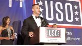 WWE Superstar John Cena is honored with the 2016 Legacy of Achievement Award at the USO-Metro Annual Awards Dinner in Washington, D.C. on April 19, 2016.