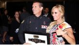 Dana poses with Orlando Chief of Police John Mena.