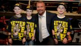Triple H meets the Make-A-Wish kids.