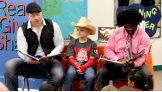 """Sheamus and NXT's Xavier Woods read """"Otis"""" to Lex's second grade class."""