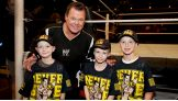 "WWE Hall of Famer Jerry ""The King"" Lawler says hello to the boys before Raw."