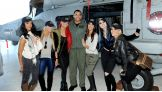 "The cast of ""Total Divas"" meet the HSM-40 Airwolves at Naval Station Mayport."