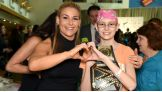 Natalya befriends one of the children who has benefited from Connor's Cure research.