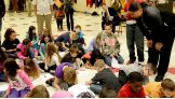 The children write heartfelt letters to their heroes stationed at Fort Benning.