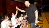 It's high-fives all around with the Superstars, Divas and athletes.