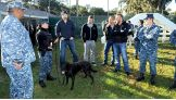 Sheamus, Dolph Ziggler, Tyler Breeze and Heath Slater are introduced to one of the Navy's finest K-9 warriors.