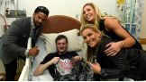 After the historic announcement, the Superstars and Divas visit kids in their rooms.