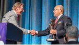 New York Jets legend Joe Namath receives the Sports Legend Award.