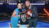 "Stephanie and Triple H congratulate ""Little JJ"" on being a Hero and an inspiration."