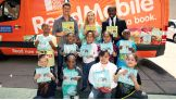 WWE Superstars Cody Rhodes, Natalya and Kofi Kingston took part in a WrestleMania Reading Celebration at Thomas G. Connors Elementary School in Hoboken, N.J.