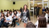 WWE Chief Brand Officer Stephanie McMahon kicks off a Be a STAR rally in Rome.
