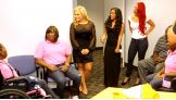"This special meet-and-greet is filmed by E! cameras for the upcoming series ""Total Divas."""