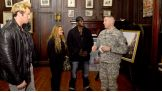 Zack Ryder, Layla and R-Truth met with Lieutenant Colonel James Gonyo and other 9/11 and Hurricane Sandy first responders at the armory.