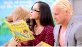 AJ Lee and Dolph Ziggler read to first- and second-graders at PFC William Grabiarz School of Excellence in Buffalo, N.Y