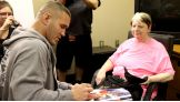 Randy Orton signs an autograph for Barb.