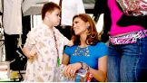 Fomer Divas Champion Eve meets one of her fans at Mattel Children's Hospital UCLA.