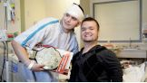 Hornswoggle presents a patient with a World Heavyweight Title.