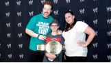 Sheamus dons the shirt made by the Circle of Champions honoree.
