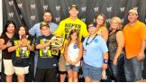 Dalton and Edward, both 13 and from Make a Wish, got to meet the WWE Champion before the three-hour spectacular.
